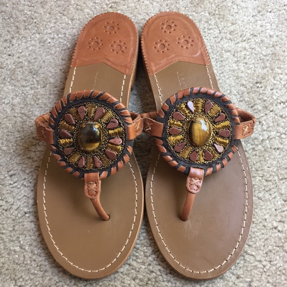3926c29d39f Jack Rogers Beaded Jewel Georgica Sandals size 9